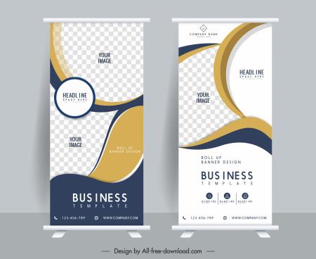 corporate poster templates roll up shape elegant modern