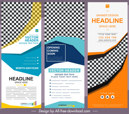 corporate posters templates colorful modern vertical shape