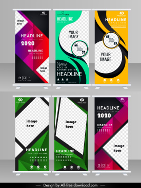 corporate posters templates elegant colorful modern vertical shape