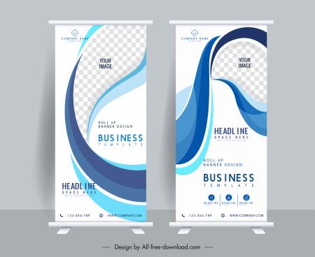 corporate standee poster templates bright dynamic elegant decor