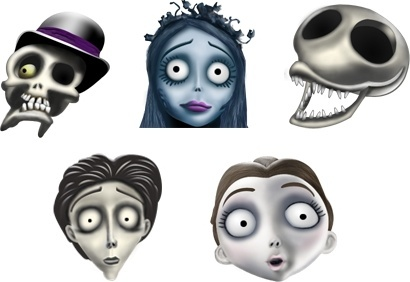 Corpse Bride icons icons pack