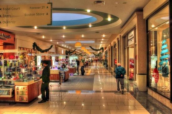 corridor of shopping mall