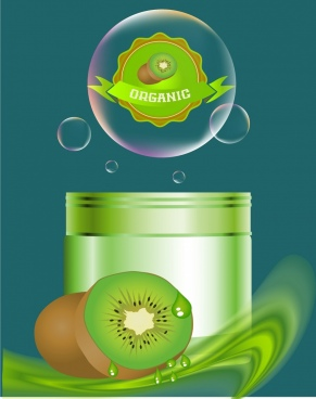 cosmetic advertisement kiwi fruit icon decor