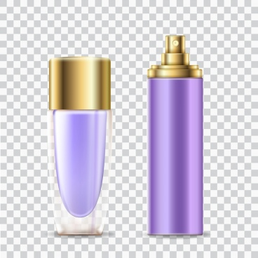 cosmetic advertising background perfume objects realistic design