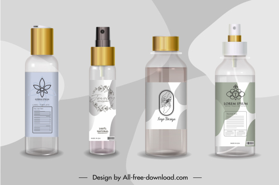 cosmetic advertising background shiny modern realistic design