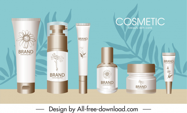 cosmetic advertising banner modern bright colored design