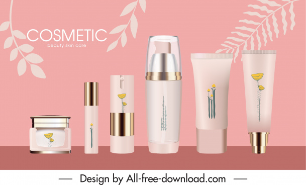 cosmetic advertising poster luxury decor modern realistic