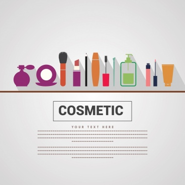 cosmetic advertisment makeup tools display space for text