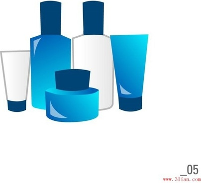 cosmetics skin care products vector