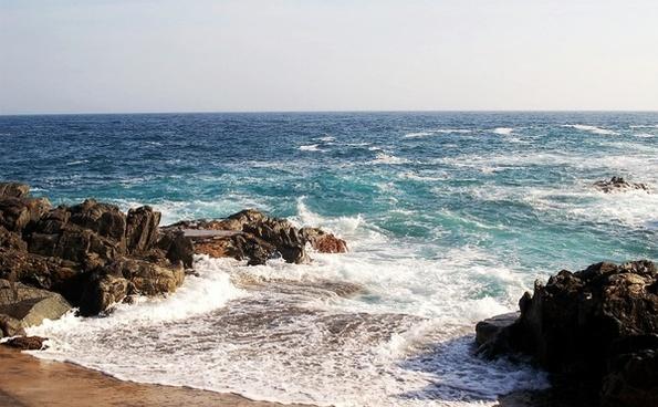 costa brava sea mediterranean