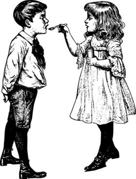 Cough Medicine - Two Children