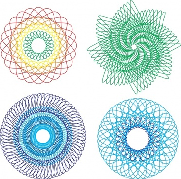 money pattern design elements seamless circle twist shapes