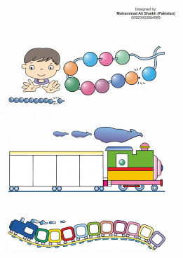 counting kid math train toy