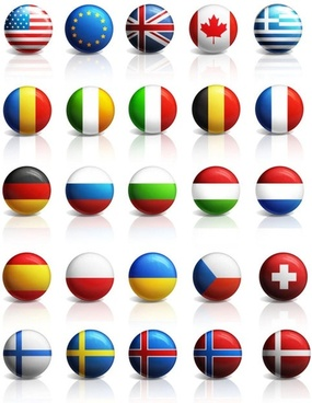 countries flag icon psd layered