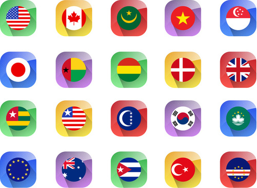 country flag icons collections