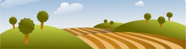 Country Landscape clip art
