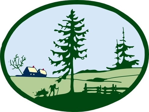 Country Scene clip art