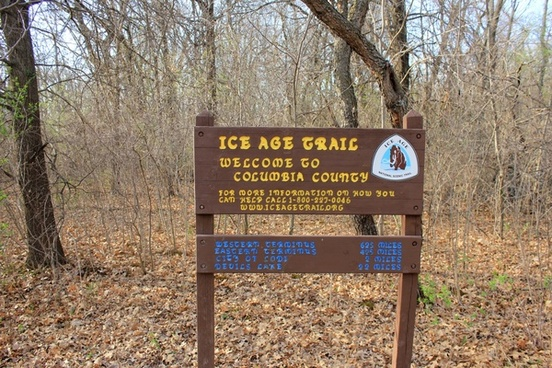 county crossing on the ice age trail wisconsin