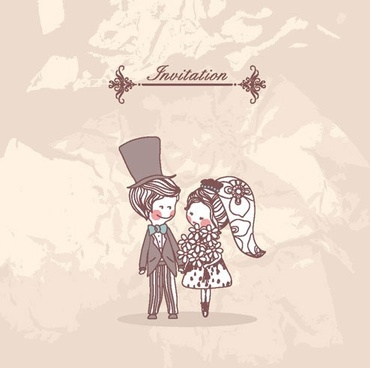 couple marry background vector