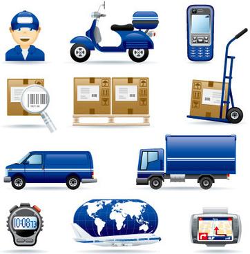 courier company icon vector