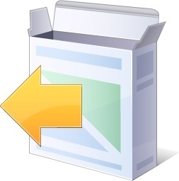 Cover box with left arrow