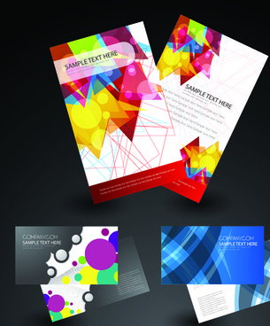 cover brochure and business card vector set