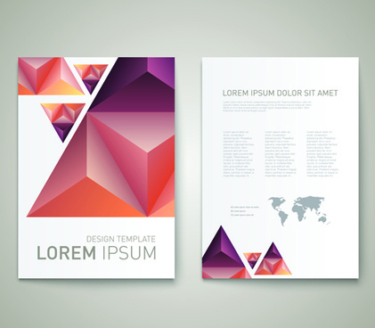 cover brochure geometric triangle copy space vector