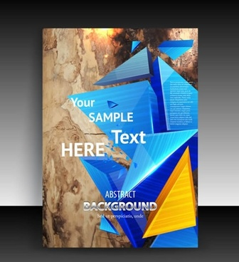 decorative background template modern dynamic 3d pyramid shapes