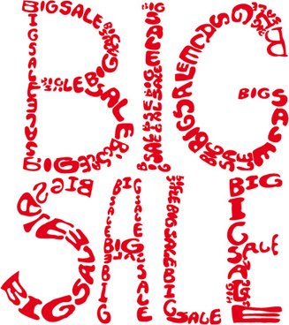 cover of big sale publicize page vector