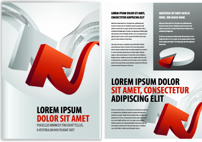 cover of business brochure and flyer vector