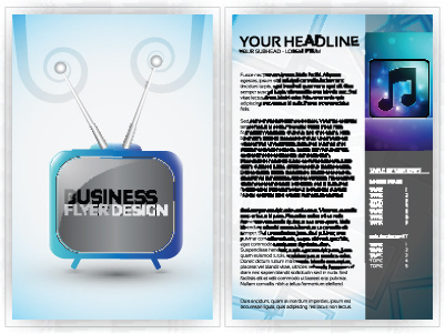 cover of business flyer design vector