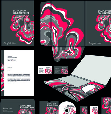 cover of corporate business kit vector