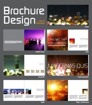 cover template brochure and magazine elements vector
