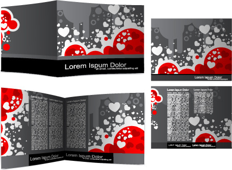 cover template flyer and brochure design vector