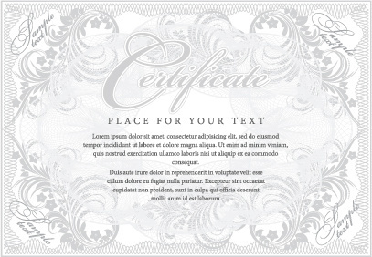 cover template gentle certificate vector