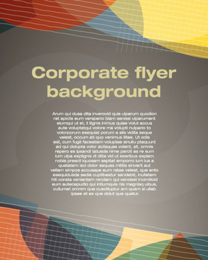 covers of corporate flyer vector background