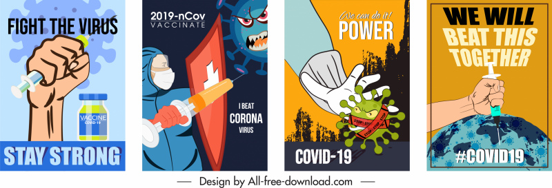 covid19 fighting poster attack virus sketch classic design