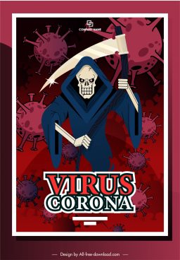 covid 19 banner death virus sketch cartoon sketch