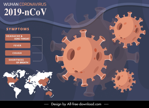 covid 19 infographic poster viruses continental sketch