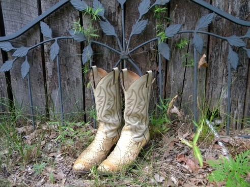 cowboy boots boots garden
