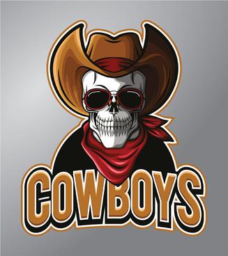 cowboys logo vector design