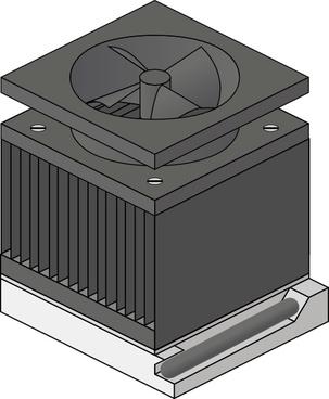 Cpu Heatsink Fan Socket Amd Duron clip art