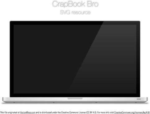 crapbook bro laptop vector