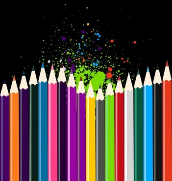 colored pencils background colorful grunge decor