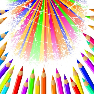 pencil advertising background colorful grunge rays decor
