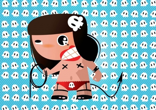Crazy Girl Cartoon