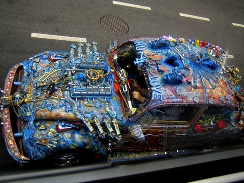 crazy overpainted car