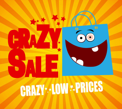 crazy sale promotion poster
