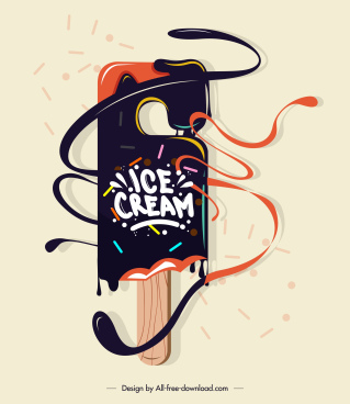 cream stick advertising background colorful dynamic decor