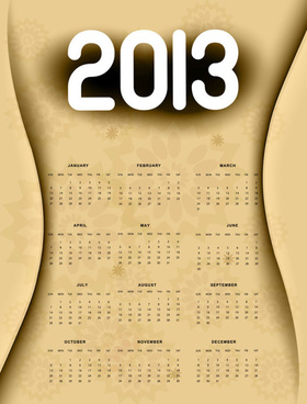 creative13 calendar design art vector set